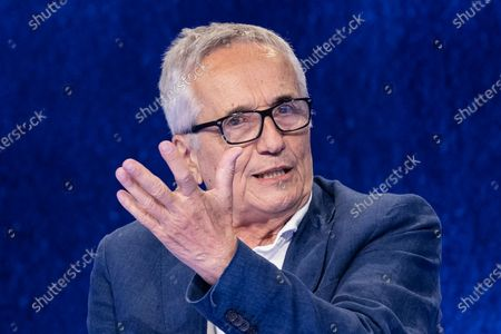 """Stock Image of The director Marco Bellocchio during the tv show """"In Onda"""""""