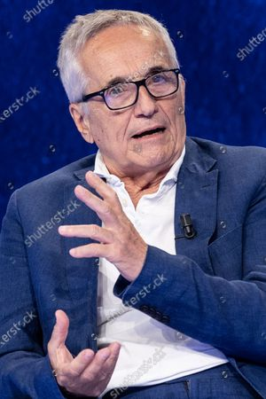 """The director Marco Bellocchio during the tv show """"In Onda"""""""