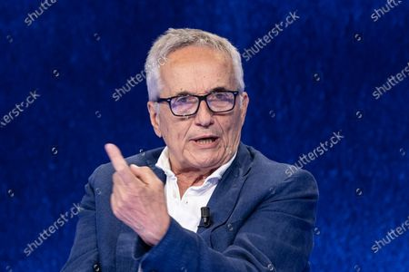"""Stock Photo of The director Marco Bellocchio during the tv show """"In Onda"""""""