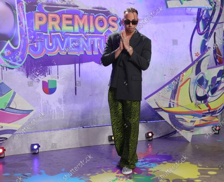 Justin Quiles arrives at the 2021 Univision's Premios Juventud awards show at the University of Miami, Watsco Center,, Miami, Florida on Thursday, July 22, 2021.