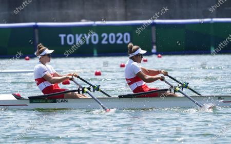 Stock Image of Garbrielle Smith and Jessica Sevick (CAN) during the Olympic Games Tokyo 2020, women's double sculls,  heats at Sea Forest Waterway in Tokyo, Japan