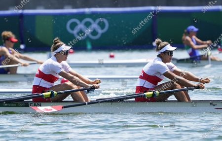 Garbrielle Smith and Jessica Sevick (CAN) during the Olympic Games Tokyo 2020, women's double sculls,  heats at Sea Forest Waterway in Tokyo, Japan