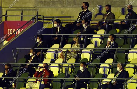 United States First Lady Dr. Jill Biden attends the 2020 Olympics Opening Ceremonies at Tokyo Olympics Stadium in Tokyo, Japan on Friday, July 23, 2021.