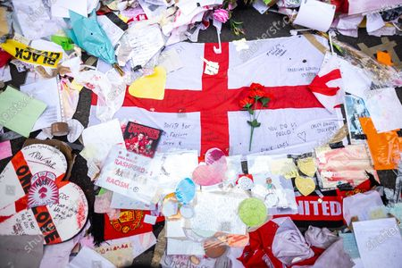 Editorial image of Marcus Rashford memorial salvage, Manchester, Greater Manchester, UK - 23 Jul 2021