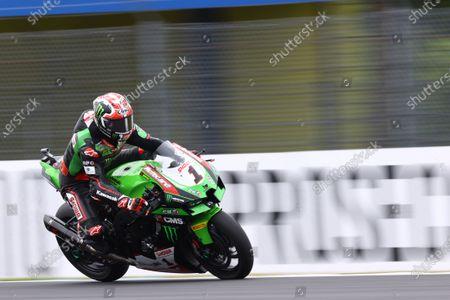 Stock Photo of TT CIRCUIT ASSEN, NETHERLANDS - JULY 23: Jonathan Rea, Kawasaki Racing Team WorldSBK at TT Circuit Assen on Friday July 23, 2021 in ASSEN, Netherlands. (Photo by Gold and Goose / LAT Images)