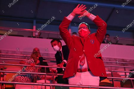 Prince Albert II of Monaco watches during the opening ceremony in the Olympic Stadium at the 2020 Summer Olympics, in Tokyo, Japan
