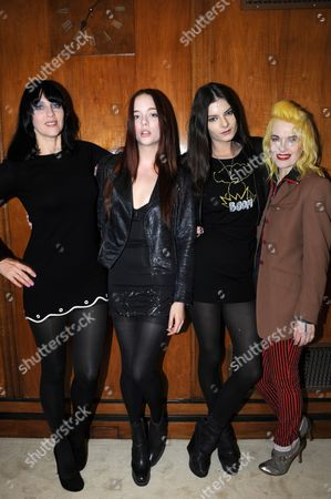 Stock Picture of Susie Bick, Rebecca Victoria, Sophie Jaggard Willing and Pam Hogg