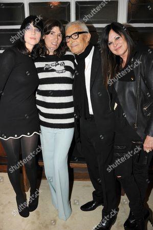 Susie Bick, Bella Freud, Vidal and Ronnie Sassoon