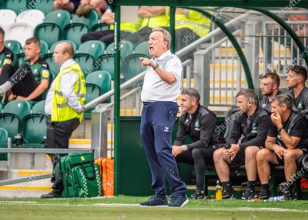 Middlesbrough Manager Neil Warnock gestures, shouts, pointing  during the Pre-Season Friendly match between Plymouth Argyle and Middlesbrough at Home Park, Plymouth