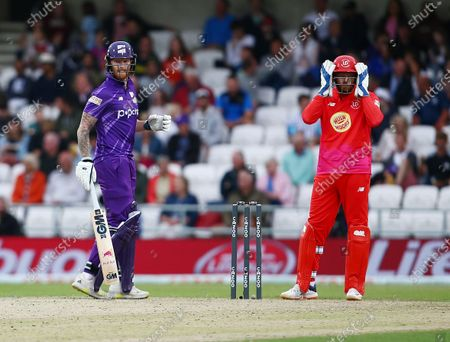 Ben Stokes of Northern Superchargers and Jonny Bairstow of Welsh Fire
