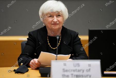 Editorial picture of Debt Limit Yellen, Brussels, Belgium - 12 Jul 2021
