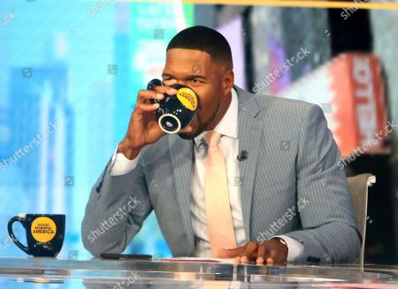 Michael Strahan on Good Morning America to talk about new movie Snake Eyes