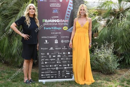 Tiziana Rocca and Valeria Mazza