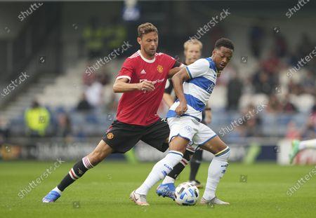 Chris Willock of QPR and Nemanja Matic of Manchester United