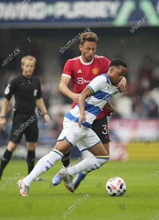 Chris Willock of QPR and Nemanja Matic of Manchester United/