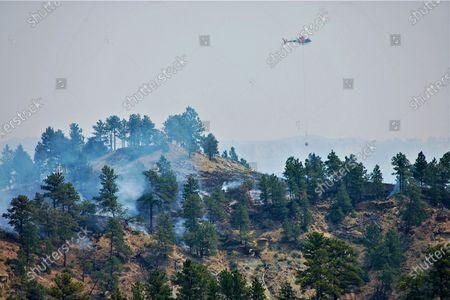 Editorial image of Montana Wildfires, Jordan, United States - 22 Jun 2021