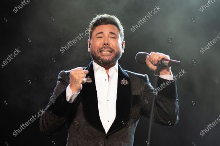 Stock Picture of Singer Miguel Poveda performs live on stage during the Jazz Palacio Real 'music festival at Palacio Real in Madrid.