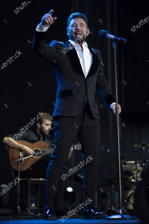 Singer Miguel Poveda performs live on stage during the Jazz Palacio Real 'music festival at Palacio Real in Madrid.