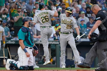 Editorial picture of Athletics Mariners Baseball, Seattle, United States - 23 Jul 2021