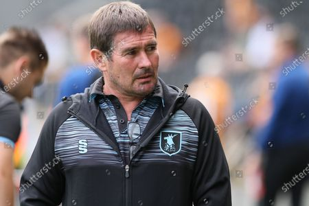 Nigel Clough during the Pre-Season Friendly match between Hull City and Mansfield Town at the MKM Stadium, Kingston upon Hull