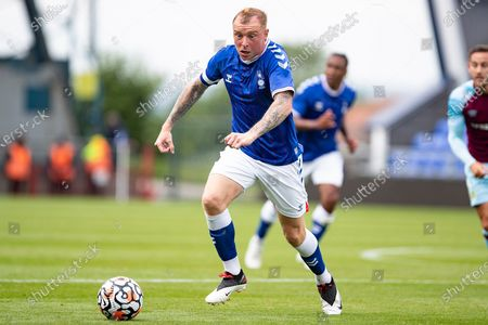 Oldham Athletic Nick Adams in action (7)  during the Pre-Season Friendly match between Oldham Athletic and Burnley at Boundary Park, Oldham