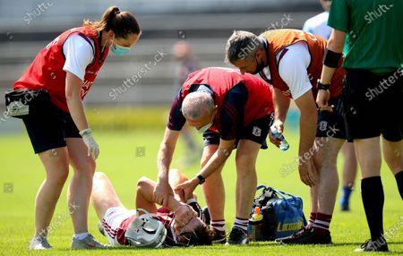 Stock Picture of Waterford vs Galway. GalwayÕs Darren Morrissey down injured