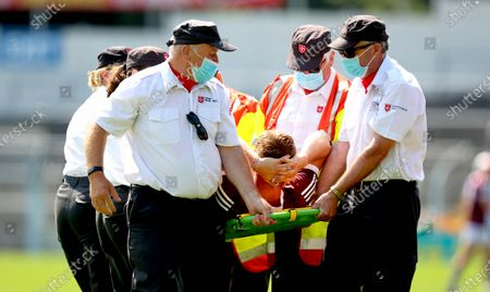 Stock Image of Waterford vs Galway. GalwayÕs Darren Morrissey goes off injured