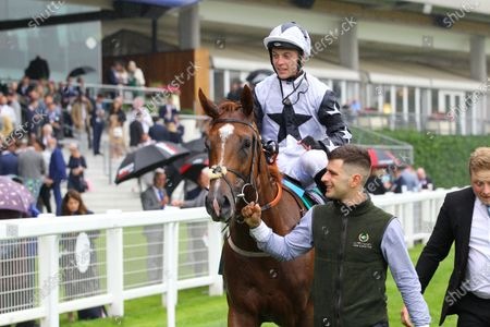 Ray Dawson and Zain Claudette after victory in the Princess Margaret Keenland Stakes at Ascot.