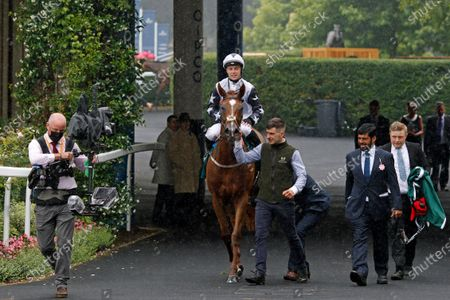 ZAIN CLAUDETTE (Ray Dawson) with Ismail Mohammed after The Princess Margaret Keeneland Stakes Ascot