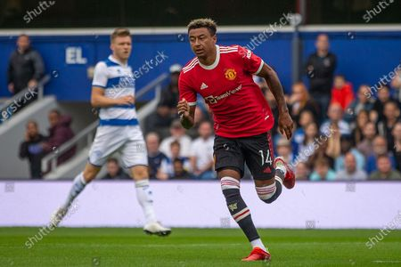 GOAL 0-1 Manchester United midfielder Jesse Lingard (14) scores and celebrates during the Pre-Season Friendly match between Queens Park Rangers and Manchester United at the Kiyan Prince Foundation Stadium, London