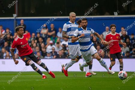 GOAL 0-1 Manchester United midfielder Jesse Lingard (14) scores during the Pre-Season Friendly match between Queens Park Rangers and Manchester United at the Kiyan Prince Foundation Stadium, London
