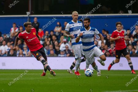 GOAL 0-1 Manchester United striker Jesse Lingard scores during the Pre-Season Friendly match between Queens Park Rangers and Manchester United at the Kiyan Prince Foundation Stadium, London
