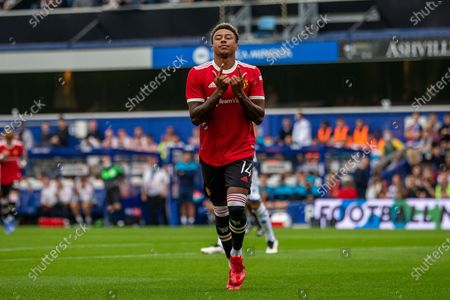 GOAL 0-1 Manchester United striker Jesse Lingard scores and celebrates during the Pre-Season Friendly match between Queens Park Rangers and Manchester United at the Kiyan Prince Foundation Stadium, London