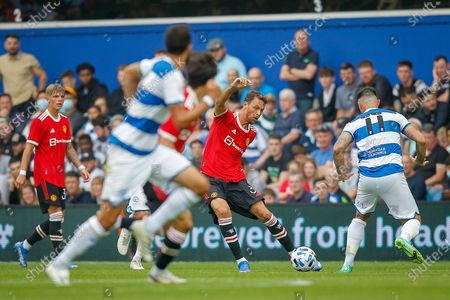 Stock Photo of Manchester United midfielder Nemanja Matic (31) during the Pre-Season Friendly match between Queens Park Rangers and Manchester United at the Kiyan Prince Foundation Stadium, London
