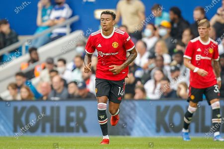 Stock Image of Manchester United midfielder Jesse Lingard (14) during the Pre-Season Friendly match between Queens Park Rangers and Manchester United at the Kiyan Prince Foundation Stadium, London