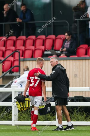 Stock Picture of Bristol City manager Nigel Pearson and Tommy Conway