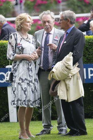Lady Madeleine Lloyd- Webber, Sir Andrew Lloyd Webber and Charlie Gordon-Watson at the QIPCO King George Diamond Cup