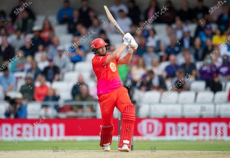 Welsh Fire's Jonny Bairstow hits out against the Northern Superchargers.