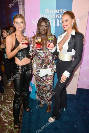 Stock Picture of Maggie Rawlins, Nyma Tang and Haley Kalil attend the Sports Illustrated Swimsuit 2021 Issue Cover Reveal Party at Seminole Hard Rock Hotel & Casino23 Jul 2021