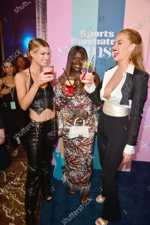 Maggie Rawlins, Nyma Tang and Haley Kalil attend the Sports Illustrated Swimsuit 2021 Issue Cover Reveal Party at Seminole Hard Rock Hotel & Casino23 Jul 2021