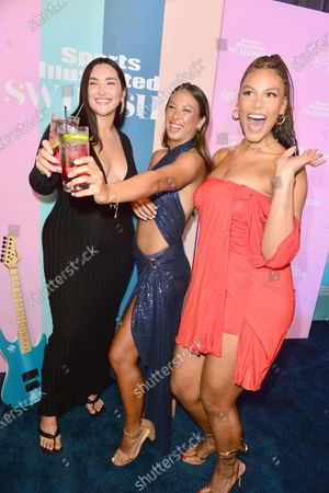 Amanda Kay, Alex Aust and Marquita Pring attend the Sports Illustrated Swimsuit 2021 Issue Cover Reveal Party at Seminole Hard Rock Hotel & Casino23 Jul 2021