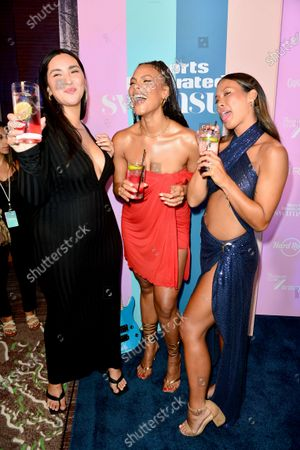 Amanda Kay, Marquita Pring and Alex Aust attend the Sports Illustrated Swimsuit 2021 Issue Cover Reveal Party at Seminole Hard Rock Hotel & Casino23 Jul 2021
