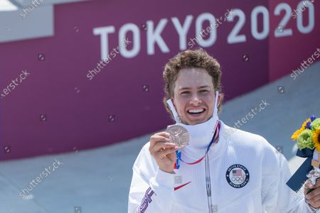 Jagger Eaton (USA) Skateboarding, Men's Street awards ceremony: Tokyo 2020 Olympic Games at Ariake Sports Park in Tokyo, Japan.