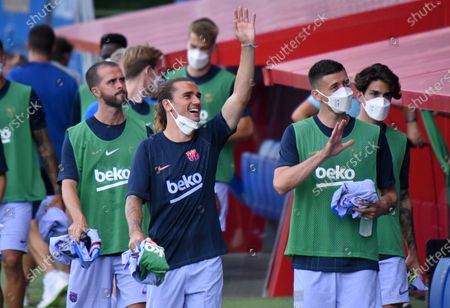 Antoine Griezmann, Clement Lenglet and Miralem Pjanic during the friendly match between FC Barcelona and Girona FC, played at the Johan Cruyff Stadium on 24th July 2021, in Barcelona, Spain. Photo: Noelia Deniz/ Urbanandsport /NurPhoto