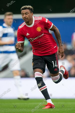 Jesse Lingard of Manchester United celebrates after scoring during the Pre-season Friendly match between Queens Park Rangers and Manchester United at the Kiyan Prince Foundation Stadium., London, UK on 24th July 2021.