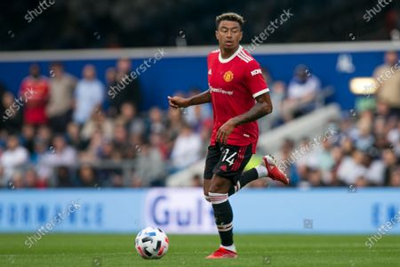 Jesse Lingard of Manchester United controls the ball during the Pre-season Friendly match between Queens Park Rangers and Manchester United at the Kiyan Prince Foundation Stadium., London, UK on 24th July 2021.