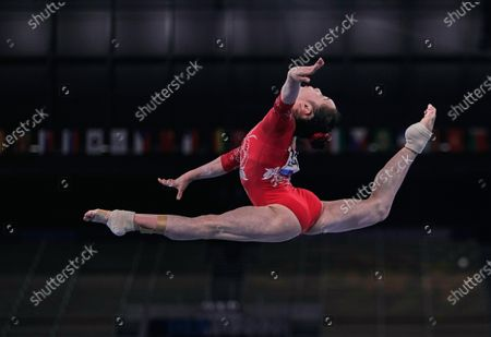 Jin Zhang of China during women's qualification for the Artistic  Gymnastics final at the Olympics at Ariake Gymnastics Centre, Tokyo, Japan on May 5, 2021.