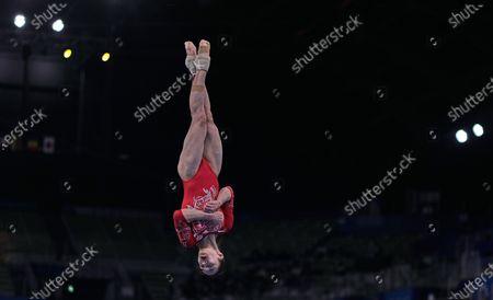 Editorial photo of Gymnastics - Artistic  - Olympics: Day 2, Tokyo, Japan - 25 Jul 2021