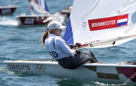 Marit Bouwmeester of Netherlands on Laser Radial during the Sailing events of the Tokyo 2020 Olympic Games in Enoshima, Japan, 25 July 2021.