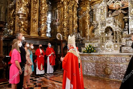 Editorial image of Spanish Royal Family attends traditional Saint James floral offering, Santiago De Compostella, Spain - 25 Jul 2021